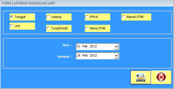 form laporan unit