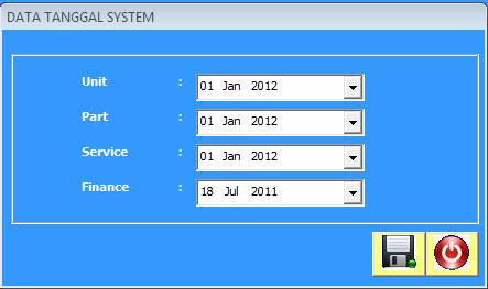 setup tanggal sistem