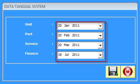 tanggal sistem 2