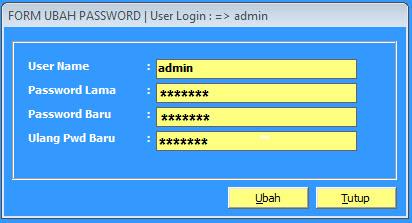 ubah password 2